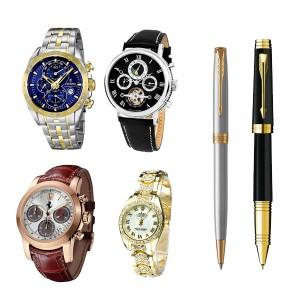 Часы, ручки