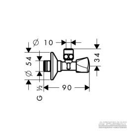 Душевая система Hansgrohe Metris 13902000 Вентиль угловой-E