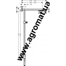 Душевые наборы и панели Hansgrohe 27166000 HG Raindance Showerpipe 180 Eco Душ.наб.