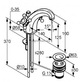 Kludi 510100520 Adlon Смеситель для раковины