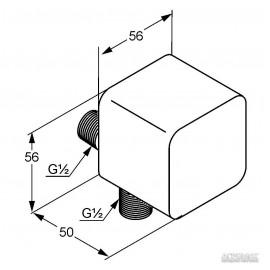 Душевая система Kludi Esprit 565410540 соединение для шланга