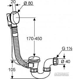Сифон Kludi Rotexa 2130005N00 для ванны