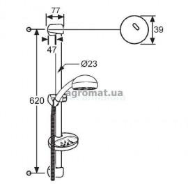 Душевые наборы и панели Kludi 6513105N00 Fresh line Душевой гарнитур