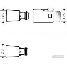 Душевая система Hansgrohe 28346000 Адаптер для быстрой смены ручного душа