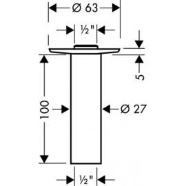 Душевые наборы и панели Axor Starck 27479820 Потолочное подсоединение 100мм