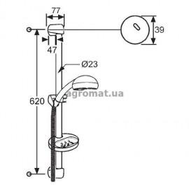 Душевые наборы и панели Kludi 6553105N00 Fresh line Душевой гарнитур