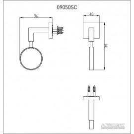Стакан Devit Quadro 09050SC