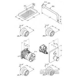 Душевая система Kludi Esprit 561920540 Shower Family