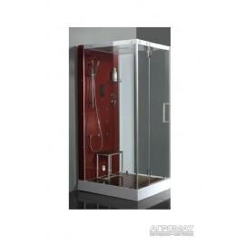 Паровой бокс Devit Fresh 6301121RR с деревянным настилом, красной панелью, правое открывание
