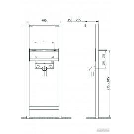 Инсталляция Cersanit 40х112 см