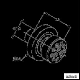 Душевая система Kludi FIZZ 670830500 форсунка боков.