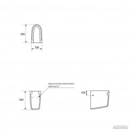 Полупьедестал Cersanit Parva 19х32,5 см