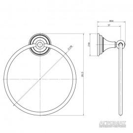Держатель полотенец / Кольцо Langberger 2122238A CLASSIC Полотенцедержатель-кольцо, хром, Swarovski