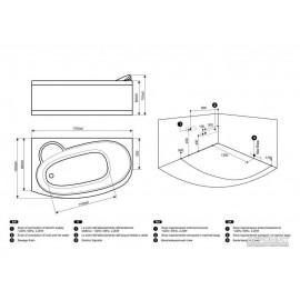 Гидромассажная ванна Devit Prestige 17020124L левая