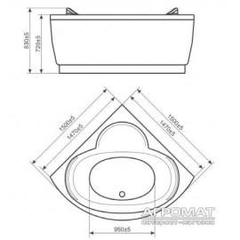 Гидромассажная ванна Devit Fresh 15020121A