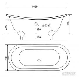 Чугунная ванна Devit Charlestone 17082142