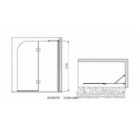 """Шторка на ванну Devit Quest FEN0797PL стекло """"шиншила"""""""