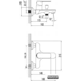 Смеситель для ванны PRIMERA Nika 10120021