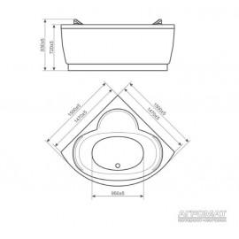 Гидромассажная ванна Devit Fresh 15010121A угловая Classic&Aero