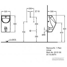 Уринал Keramag Renova Nr.1 Plan 235100