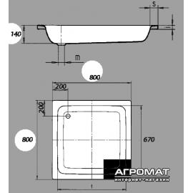 Поддон Kaldewei Sanidusch 331000010001 Mod.395 80x80 см