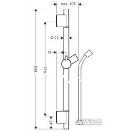 Душевая система Hansgrohe 28631000 Unica'S Puro Душевая стойка