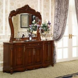 Буфет Furniture Design Furniture Classic (темный орех) 802 с зеркалом