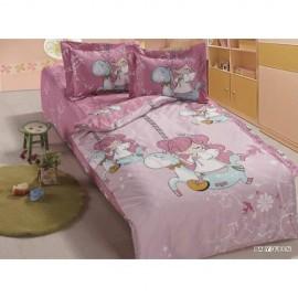 Комплект детского постельного белья Arya Сатин для новорожденных 100*150 Baby queen