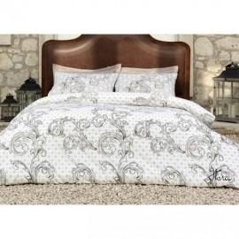 Комплект постельного белья Victoria Ранфорс 2,0 Flora brown (00762)