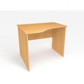 Офисный стол криволинейный MOffice Eco (бук) 105 (100х84/60х75)