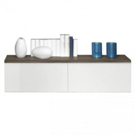 Шкаф навесной Arte-M Linea (oak dark HN/white HG/oak dark HN) 265 4107