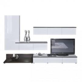 Шкаф навесной Arte-M Linea (white/white HG/ash dark HN) 267 4107