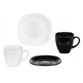 Сервиз чайный LUMINARC CARINE BLACK&WHITE, 12 предметов