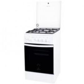 Кухонная плита Greta 1470-0007 белая со стеклянной крышкой