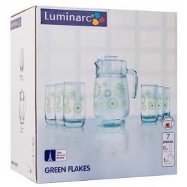 Набор LUMINARC GREEN FLAKES, 7 предметов