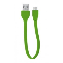 Кабель Trust URBAN FLAT MICRO-USB CABLE 20cm Lime