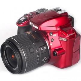 Цифровая фотокамера Nikon D3300 Kit 18-55 VR AF-P Red
