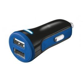 Автомобильное зарядное устройство Trust 20W Car Charger with 2 USB port Blue