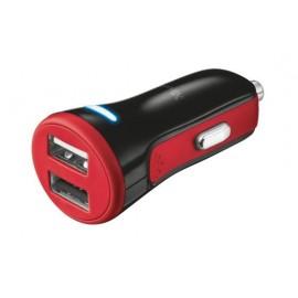 Автомобильное зарядное устройство Trust 20W Car Charger with 2 USB port Red
