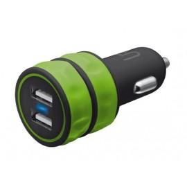 Автомобильное зарядное устройство Trust URBAN Dual Smart Car Charger Lime
