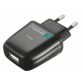 Зарядное устройство Trust URBAN Ultra Fast Wall Charger 2.0 - Black