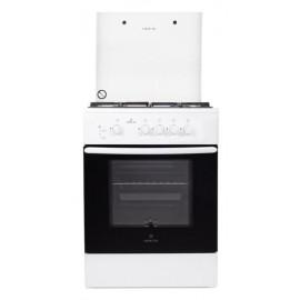 Кухонная плита Greta 600/7 белый, чугунная решетка