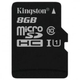 Карта памяти Kingston microSDHC 8 Gb UHS-I no ad U1 (R45, W10MB/s)