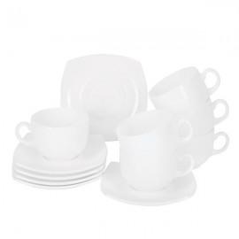Сервиз чайный LUMINARC QUADRATO WHITE, 12 предметов