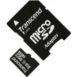 Карта памяти Transcend microSDHC 8 GB Class 4 (+ SD 2.0 адаптер)