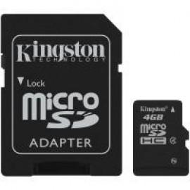 Карта памяти Kingston microSD 4 GB Class 4 (+ SD адаптер)