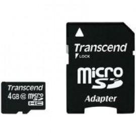 Карта памяти Transcend microSDHC 4 GB Class 10 (+ SD адаптер)